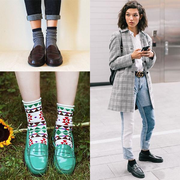 کفش کالج با جوراب