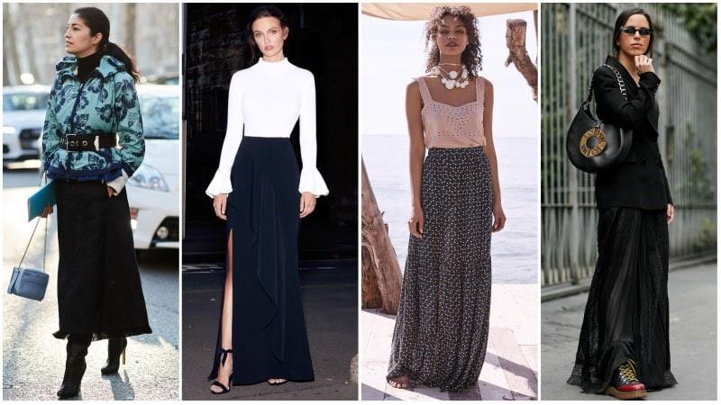 پارچه دامن زنانه بلند شیک
