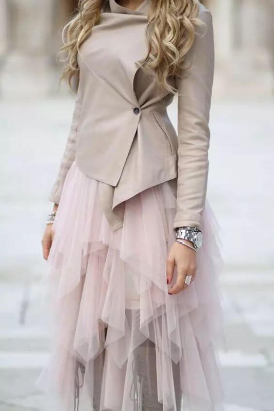 دامن توری بلند زنانه