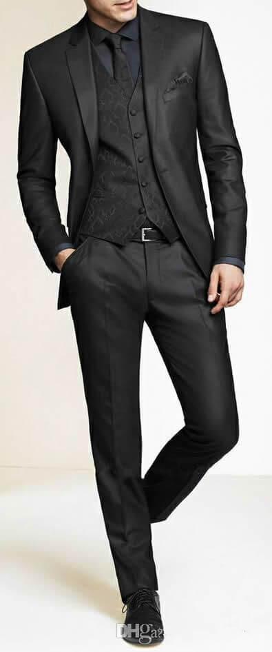مدل پیراهن مردانه مشکی رسمی