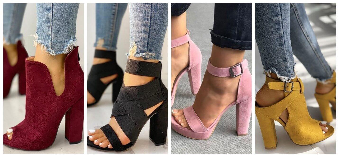کفش پاشنه بلند ضخیم