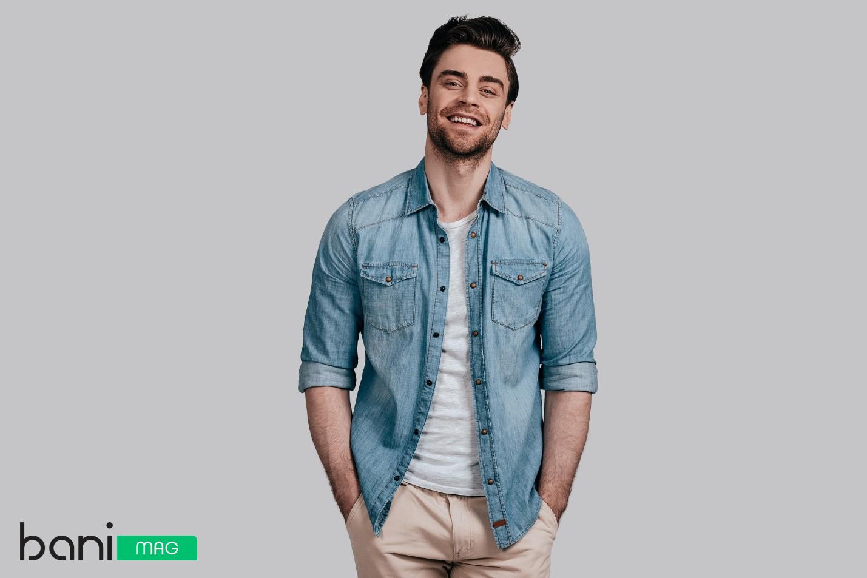 پیراهن جین مردانه و شلوار کتان