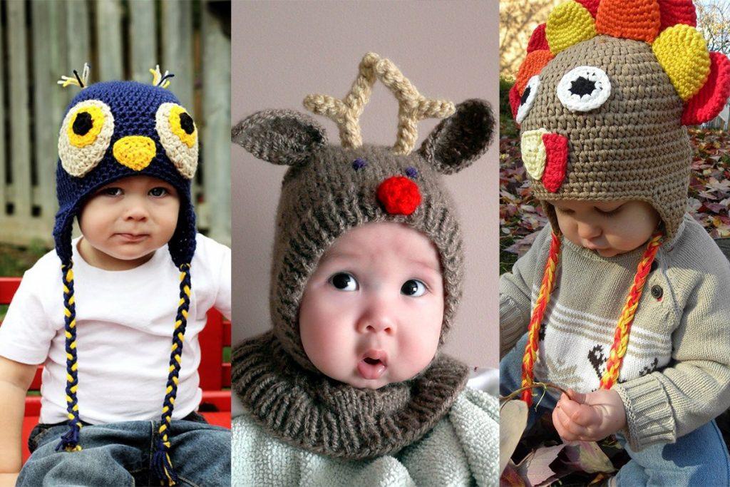 مدل کلاه بافتنی بچگانه طرح حیوانات