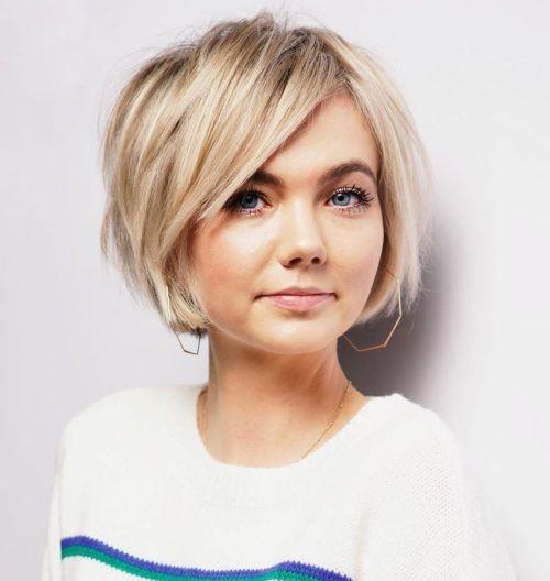 مدل مو کوتاه دخترانه برای صورت گرد