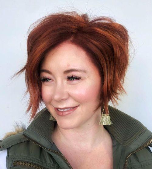 مدل مو دخترانه کوتاه برای صورت قلبی