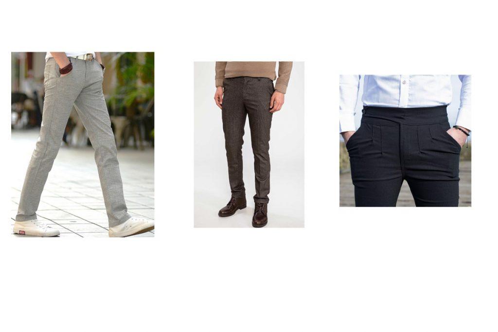 مدل شلوار پارچه ای مردانه جذب و بلند