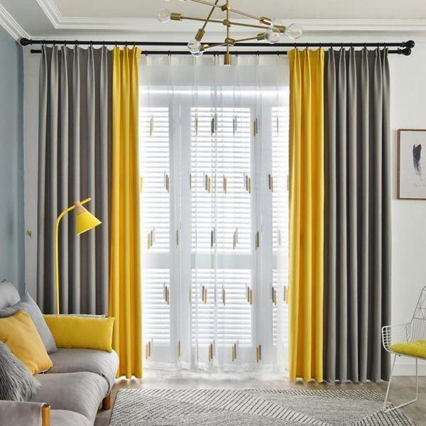ترکیب رنگهای خاکستری و زرد( رنگ سال 2021 ) در طراحی داخلی