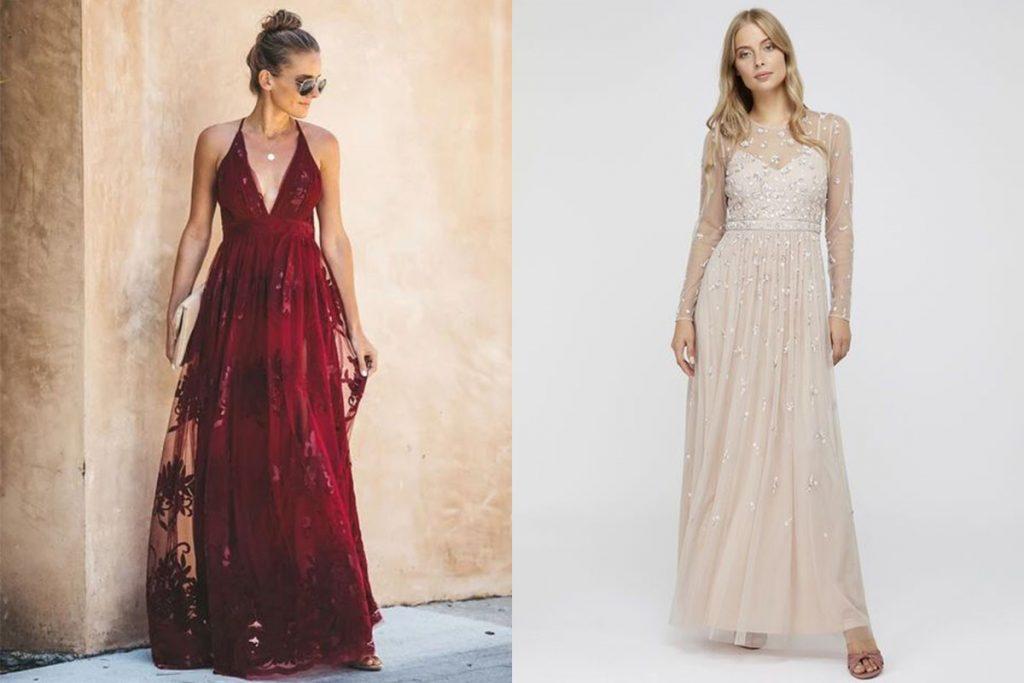 مدل لباس ماکسی بلند مجلسی دخترانه