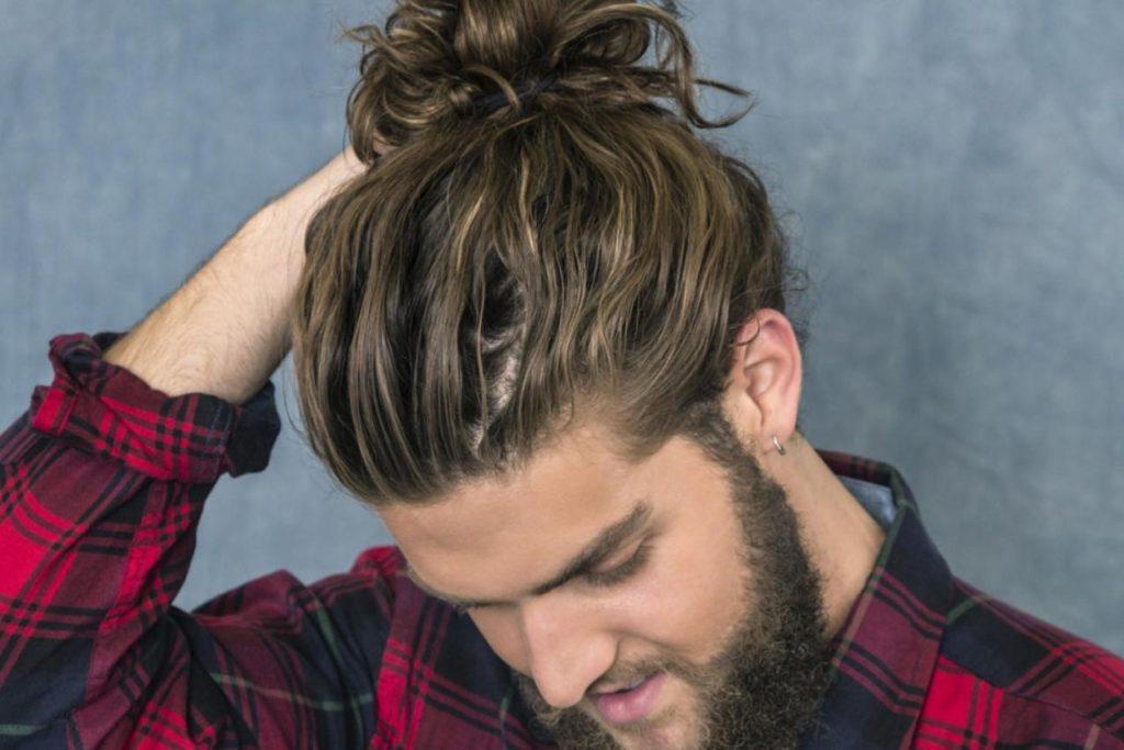 مو بلند مردانه بسته