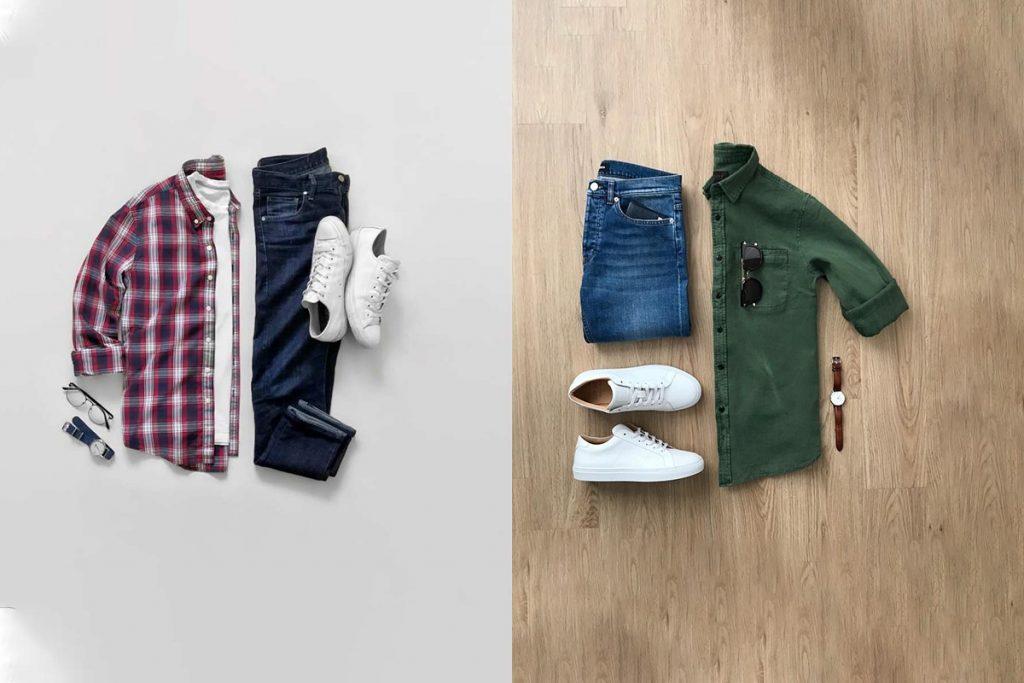 ست پیراهن و شلوار برای روزهای ابتدایی پاییز