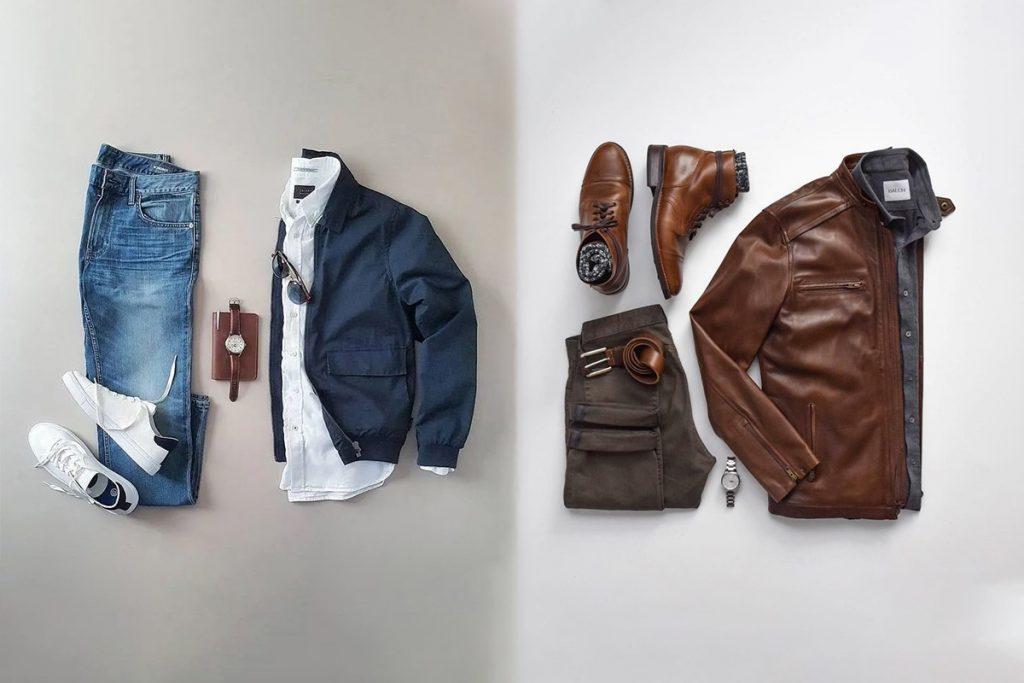 ست پیراهن و شلوار مردانه با بارانی یا پالتو