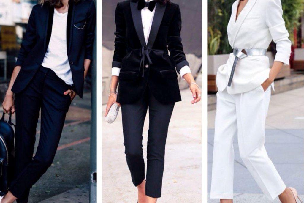 کت و شلوار زنانه مجلسی با لباس های گشاد
