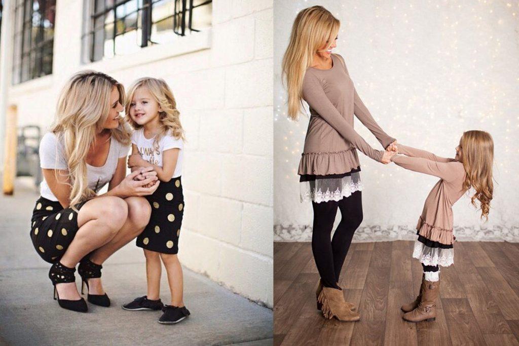 ست کردن لباس مادر دختر