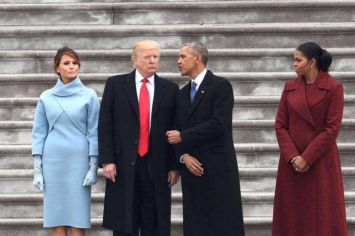 اوباما و ترامپ / لباس ملانیا ترامپ / لباس میشل اوباما