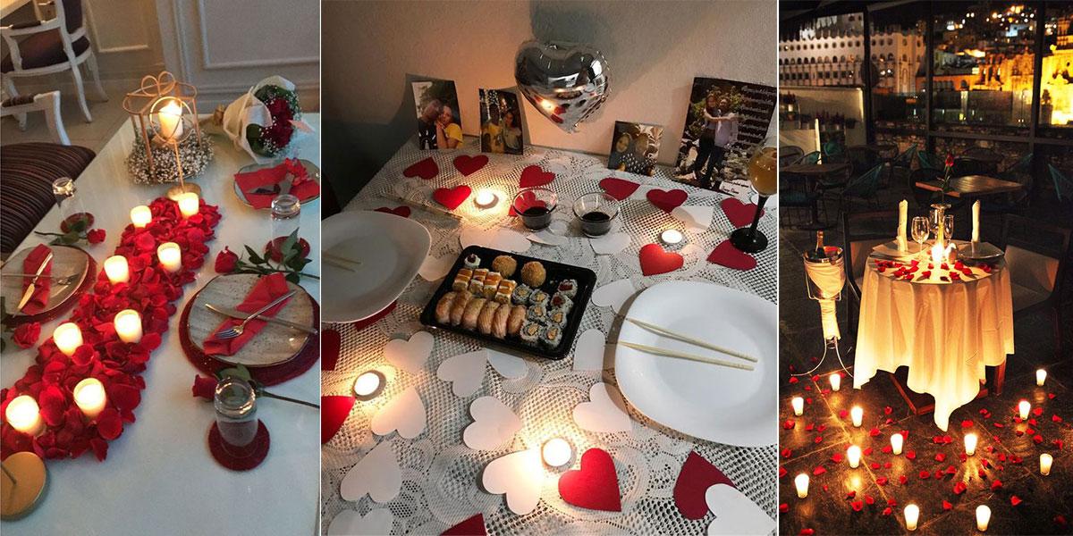 میز شام ولنتاین