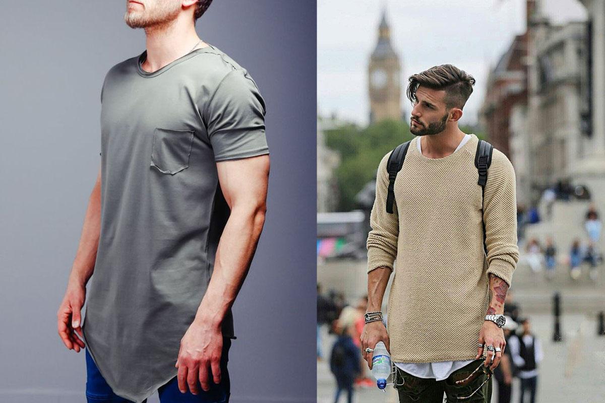 تیشرت بلند مردانه