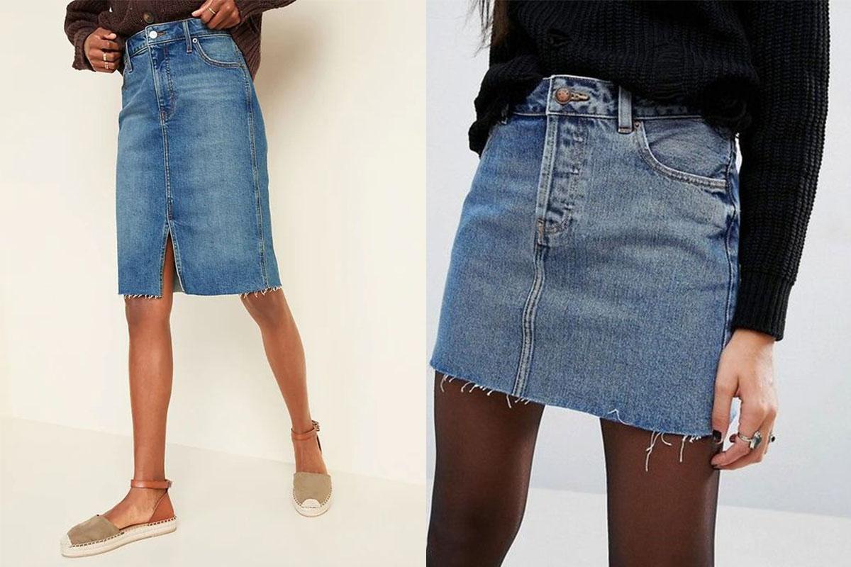مدل دامن کوتاه جین