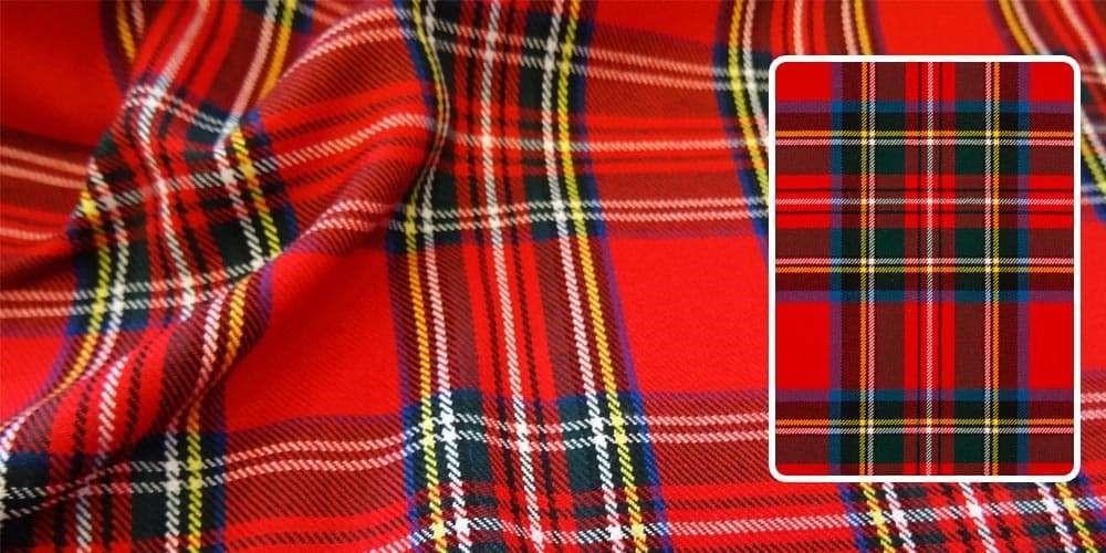 پارچه چهارخونه قرمز