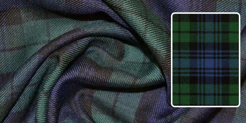 پارچه چهارخانه سبز و آبی