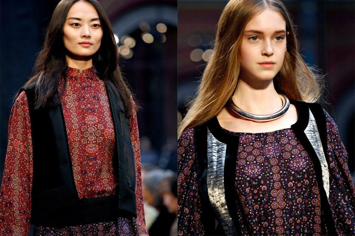 نقوش فرش ایرانی در لباس