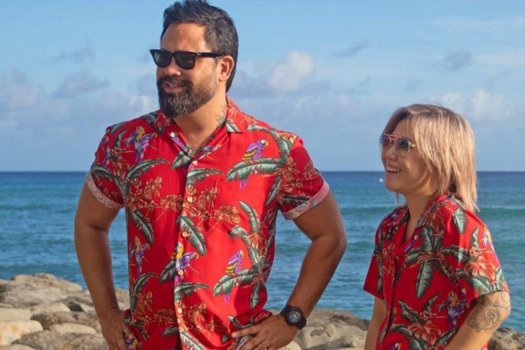 پیراهن هاوایی مردانه گلدار