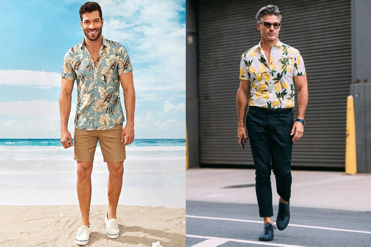 مدل پیراهن مردانه هاوایی