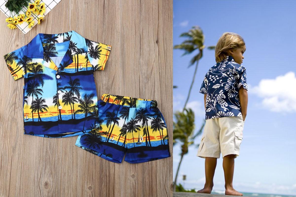 پیراهن هاوایی بچگانه پسزانه