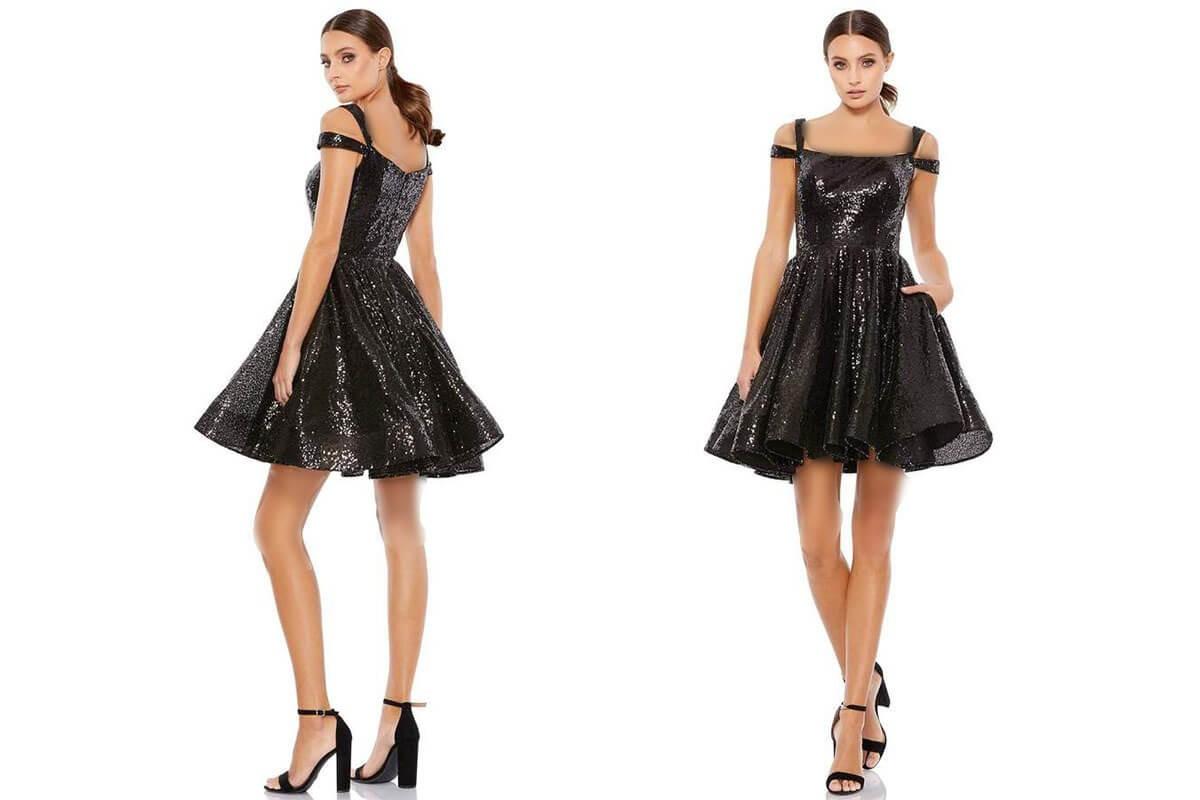 مدل لباس شب کوتاه لمه