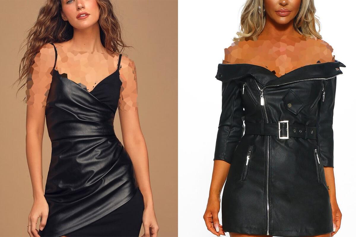 مدل لباس چرم دامن کوتاه