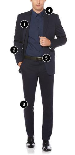 اندازه گیری سایز لباس مردانه