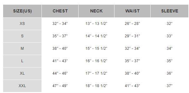 نحوه سایز گیری تیشرت مردانه