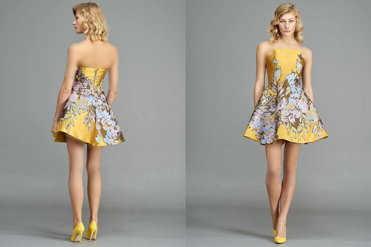 مدل لباس شب کوتاه برش دار