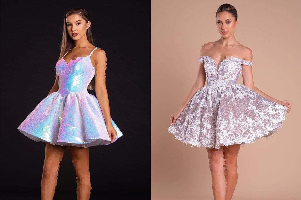 لباس شب کوتاه مدل جدید