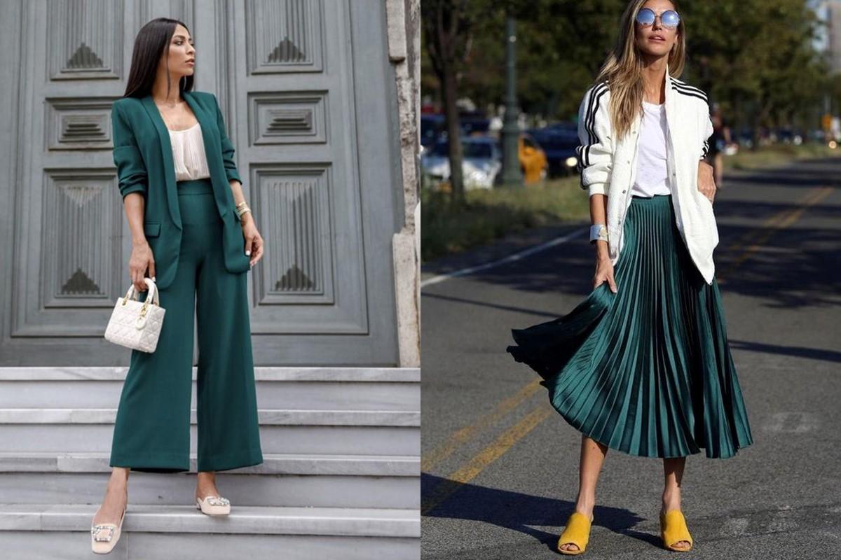 ست کردن لباس سبز تیره