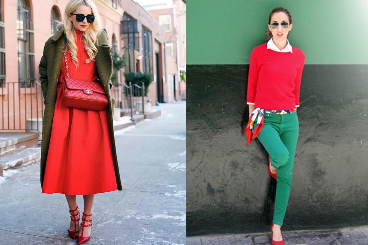 ست کردن لباس رنگ سبز