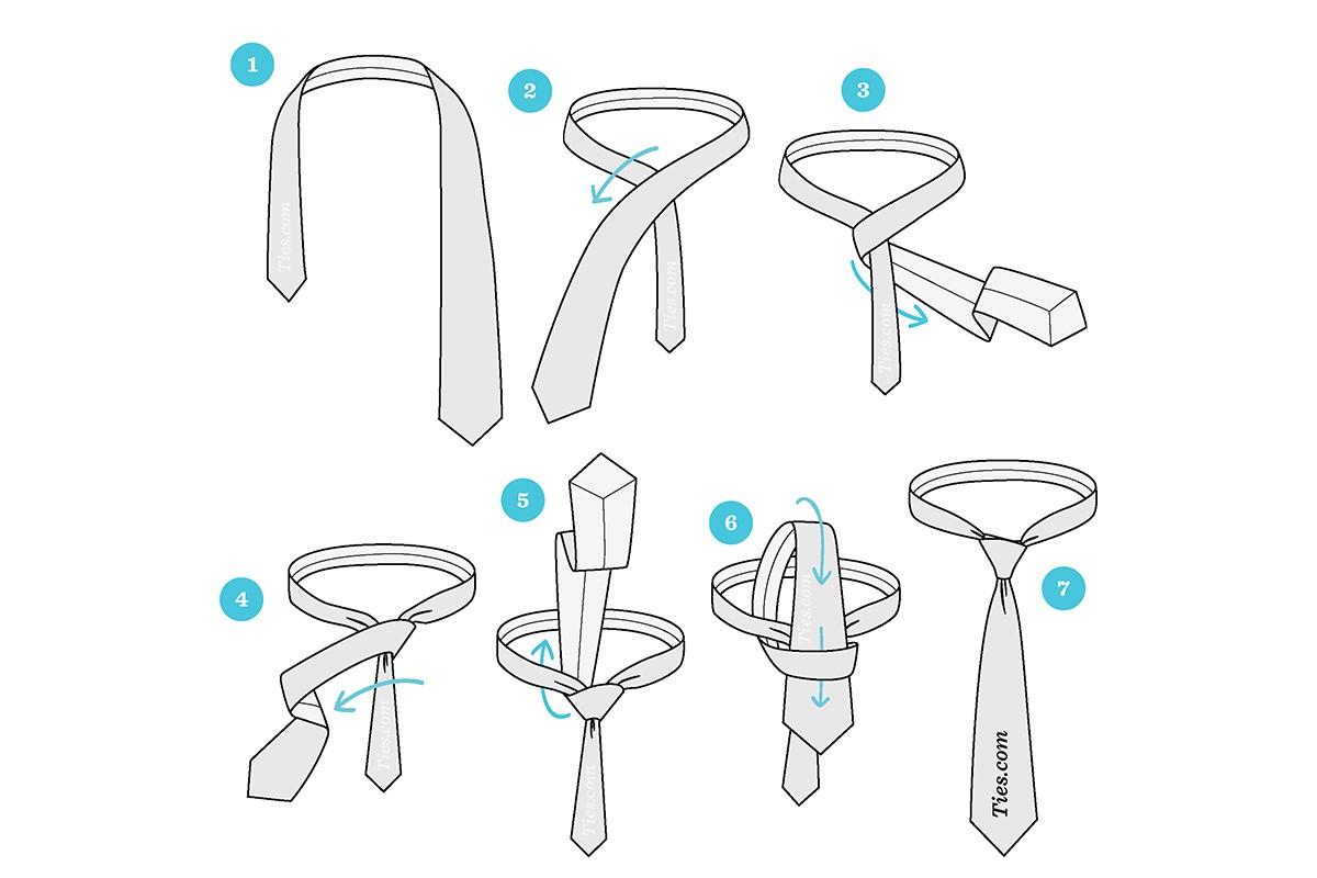 نحوه بستن گره کراوات