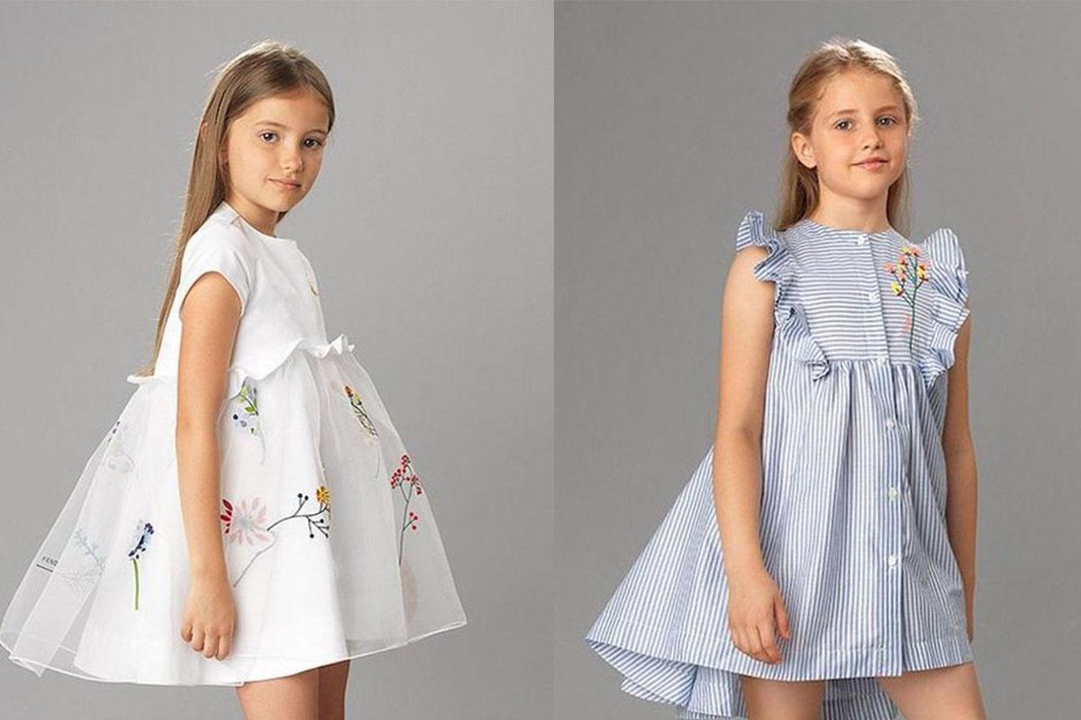 مدل لباس مجلسی گلدوزی شده دخترانه