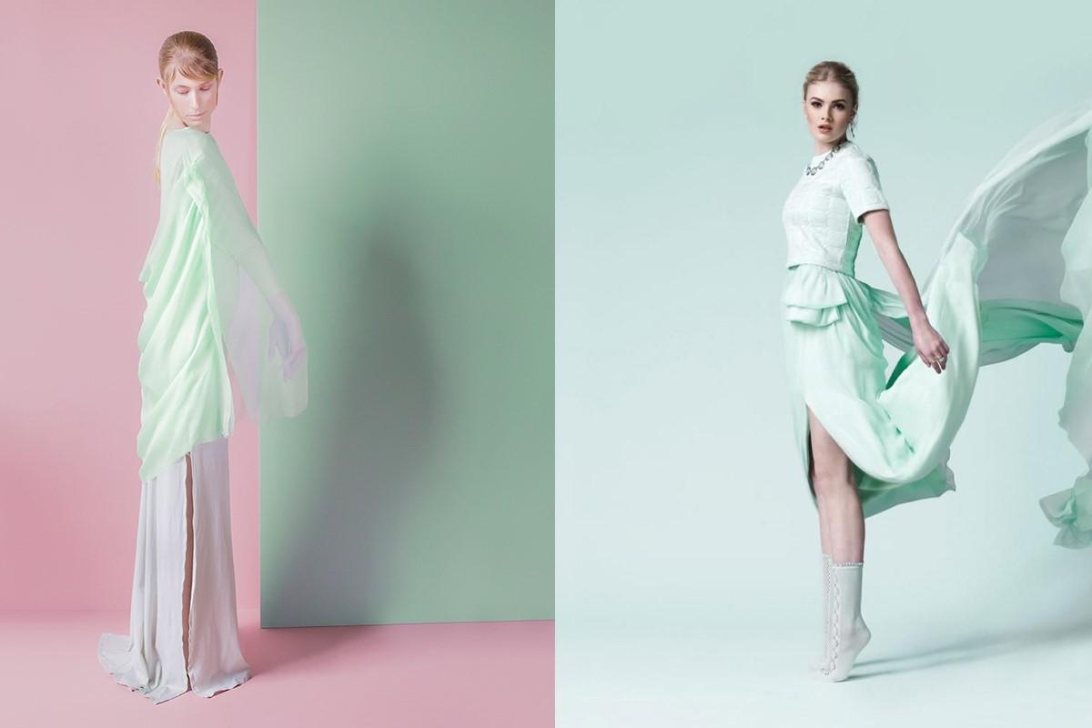 ست کردن لباس سبز پاستلی