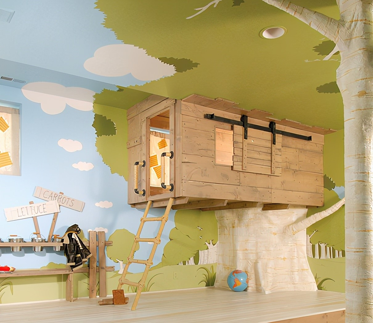 طراحی دیوار اتاق کودک