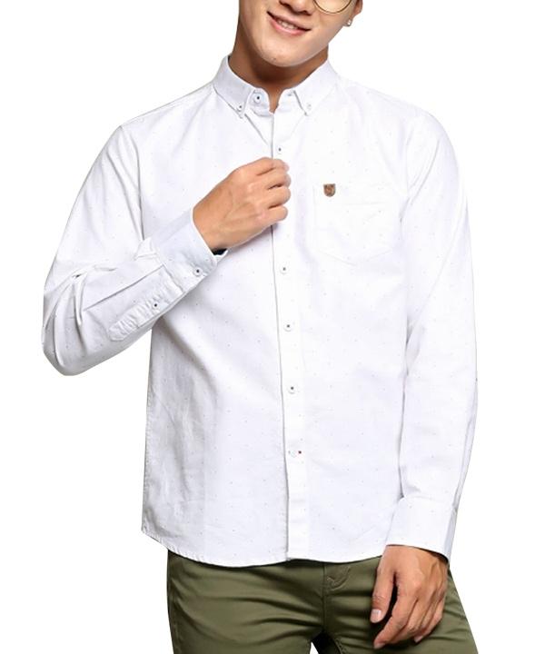 پیراهن مردانه سفید جین وست- بانی مد